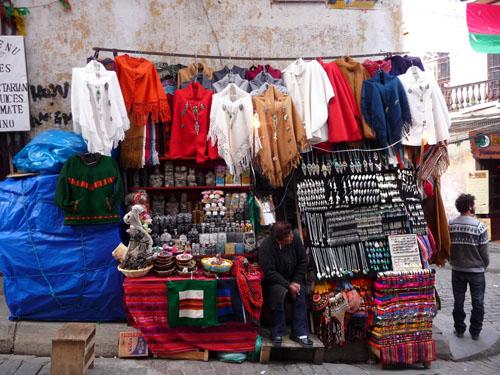 A Bolivian market stall
